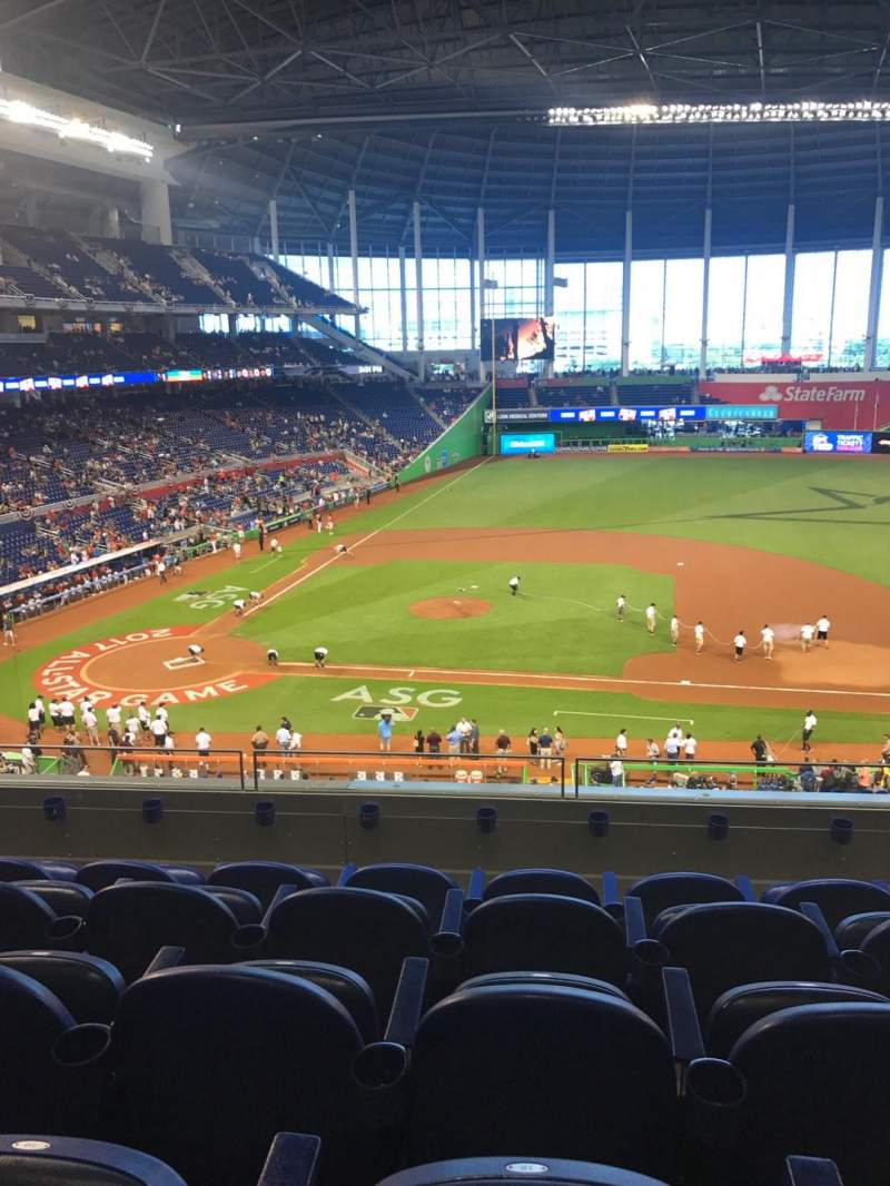 Seating view for LoanDepot Park Section 209 Row 5 Seat 18