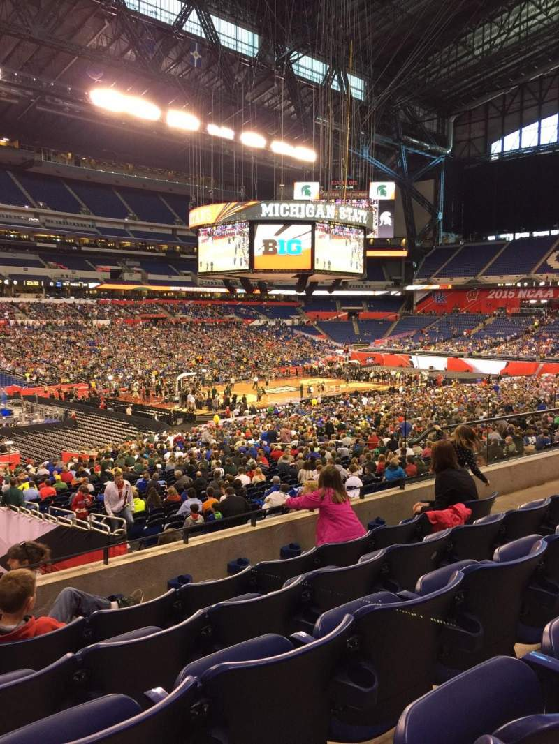 Seating view for Lucas Oil Stadium Section 218 Row 5 Seat 10