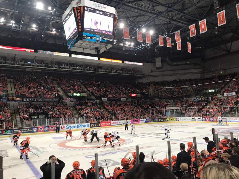 Seating view for Sheffield Arena Section 103 Row H Seat 7