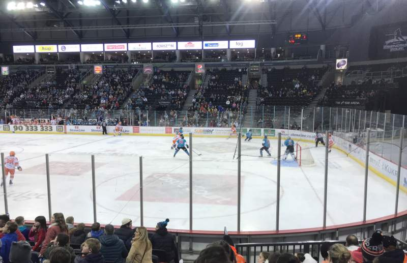 Seating view for SSE Arena Belfast Section East L 8 Row K Seat 153