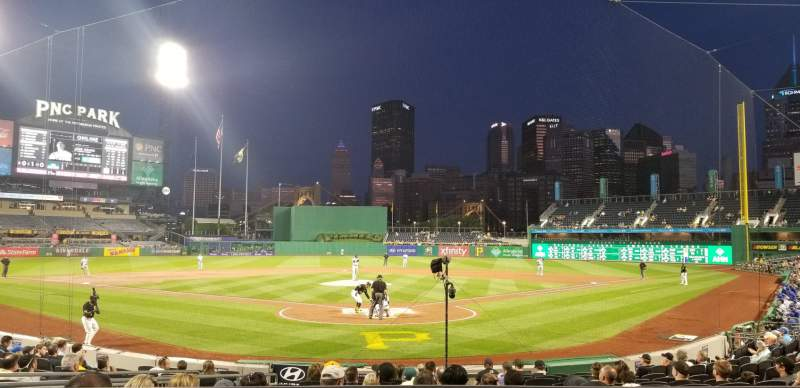 Seating view for PNC Park Section 117 Row A Seat 1