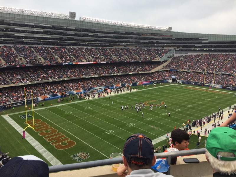Seating view for Soldier Field Section 444 Row 2 Seat 12