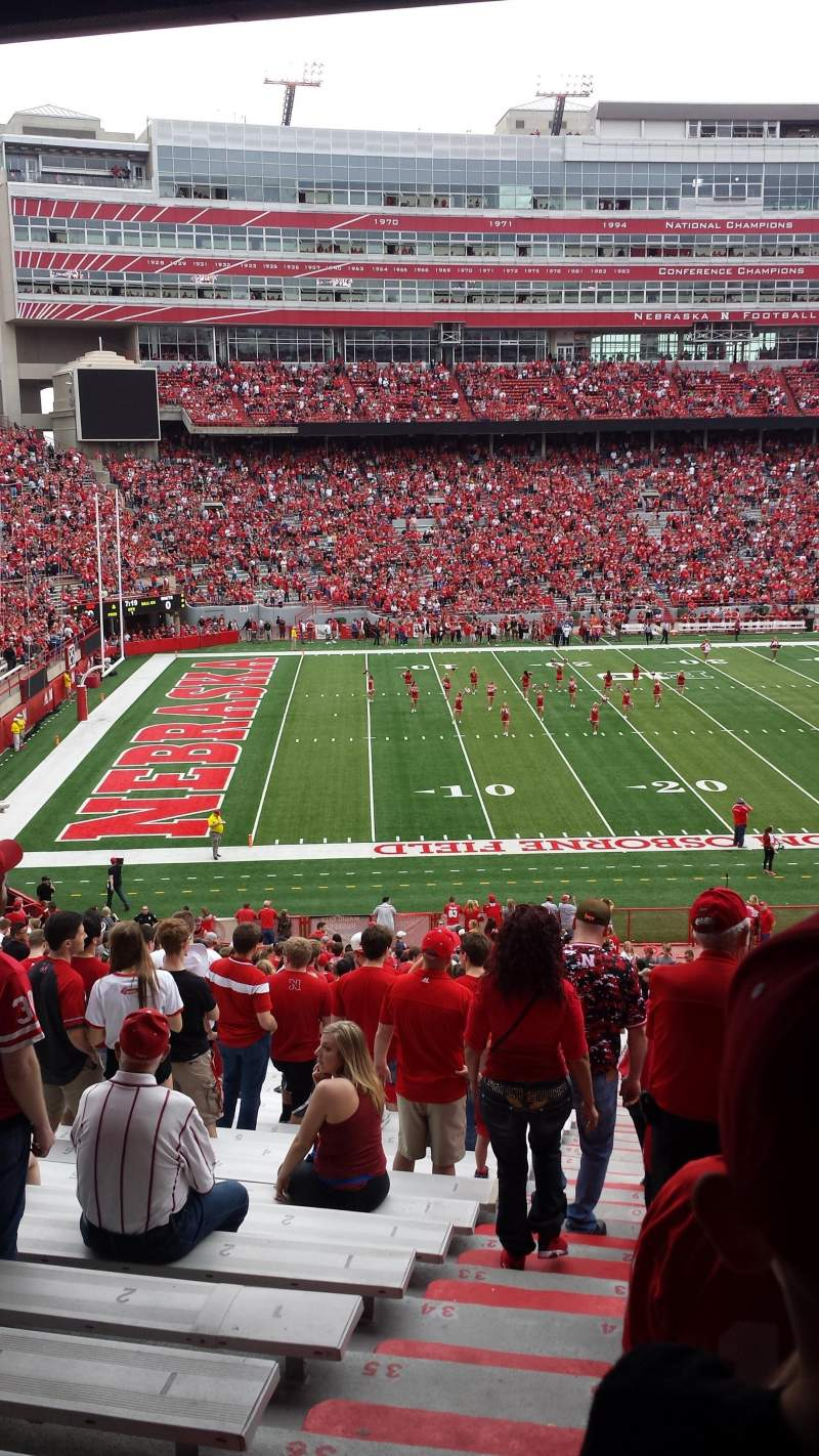 Seating view for Memorial Stadium Section 9 Row 40 Seat 24