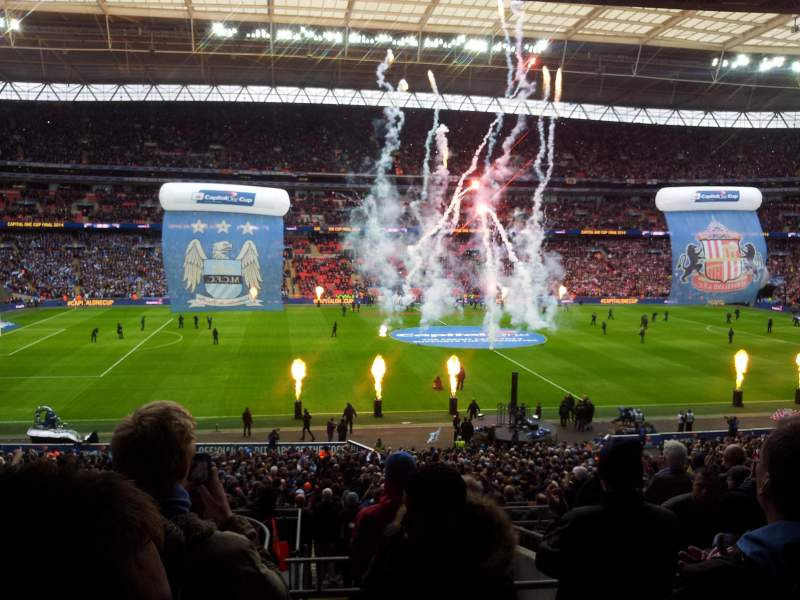 Seating view for Wembley Stadium Section 124 Row 42 Seat 45