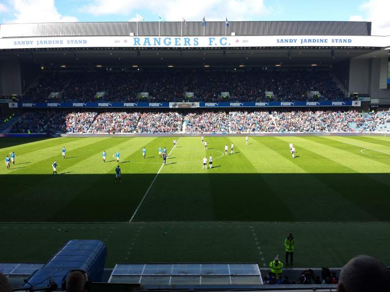 Seating view for Ibrox Stadium Section Main Stand Front Row C