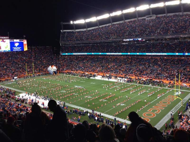 Seating view for Sports Authority Field at Mile High Section 330 Row 17 Seat 4
