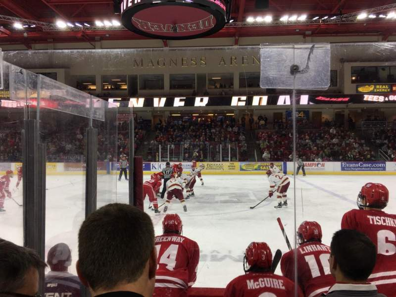 Seating view for Magness Arena Section 1 Row 4 Seat 5