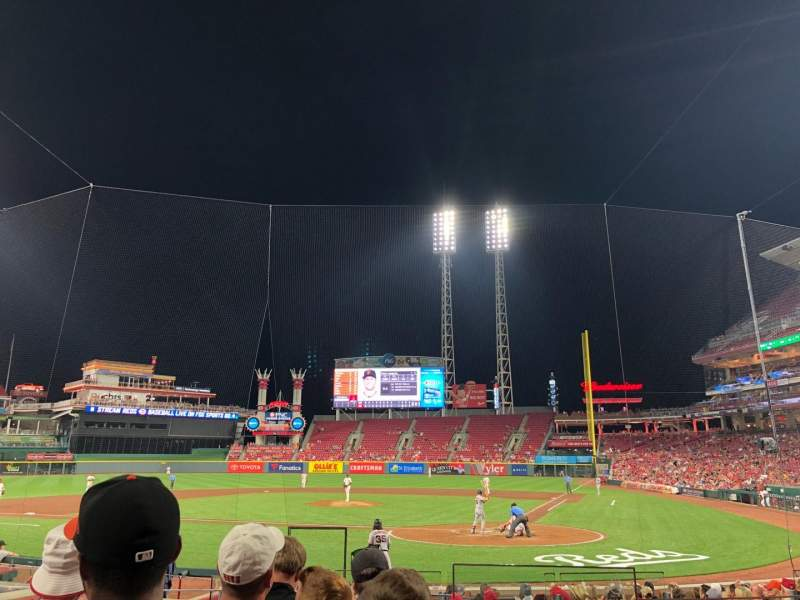 Great American Ball Park, section: 120, row: R, seat: 1