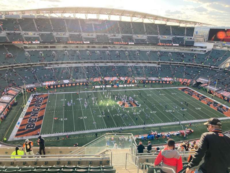 Seating view for Paul Brown Stadium Section 343 Row 22 Seat 2