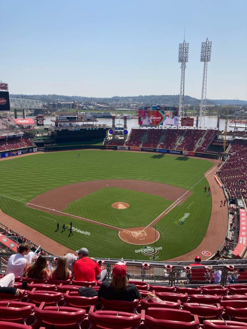 Seating view for Great American Ball Park Section 522 Row G Seat 13