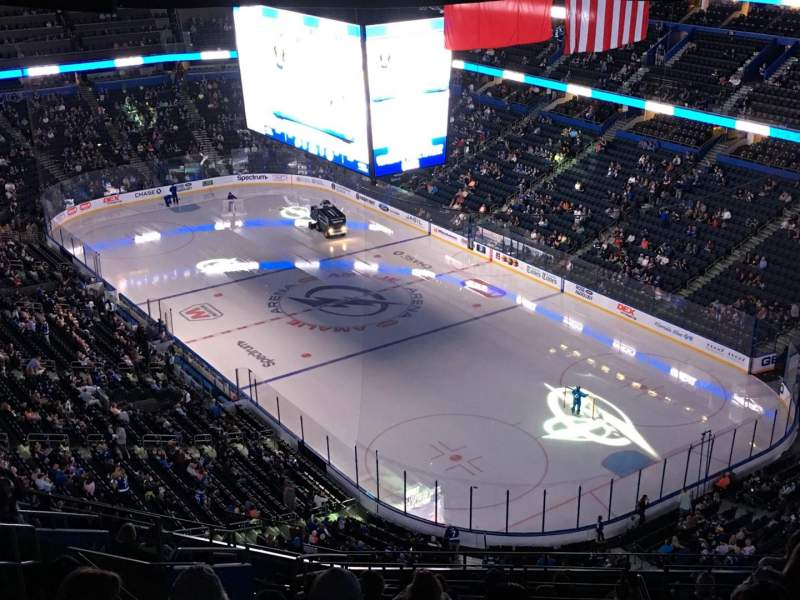 Seating view for Amalie Arena Section 326 Row S Seat 24
