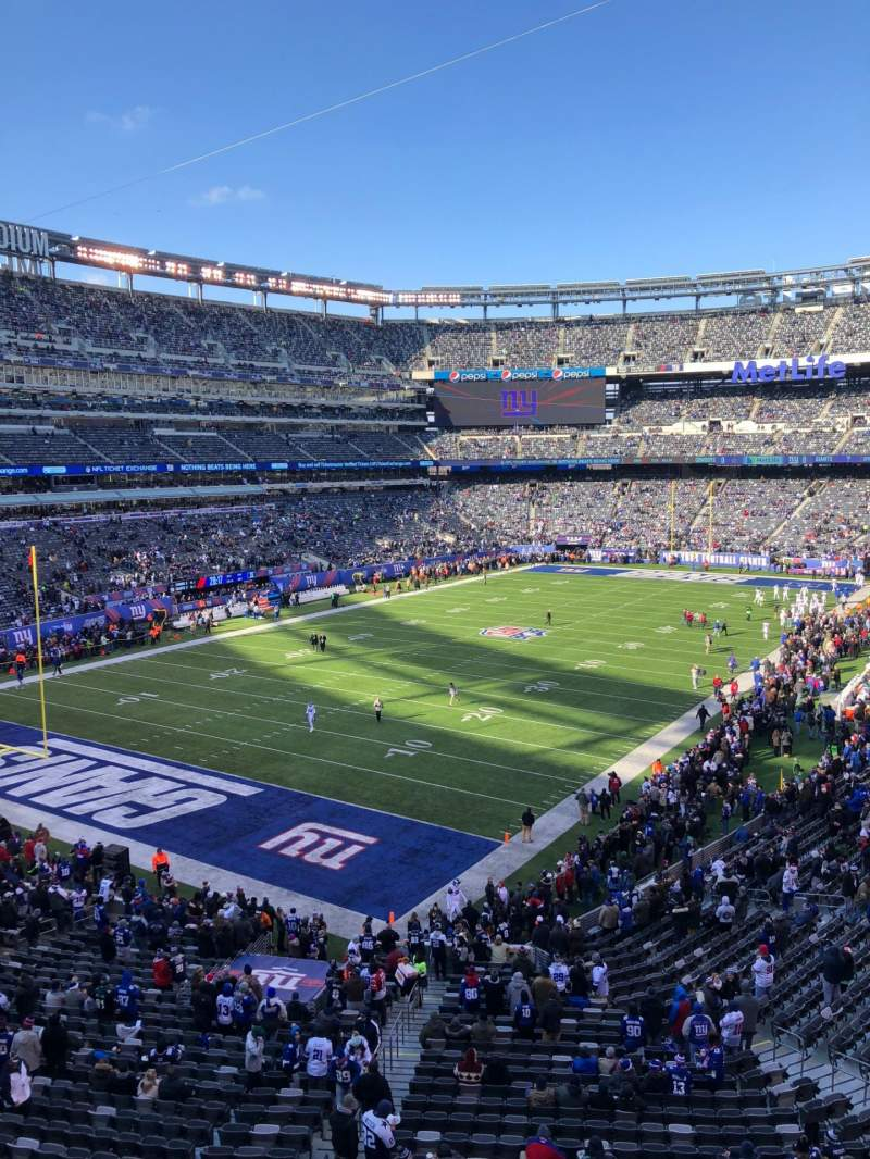 Seating view for MetLife Stadium Section 223A Row 1 Seat 1
