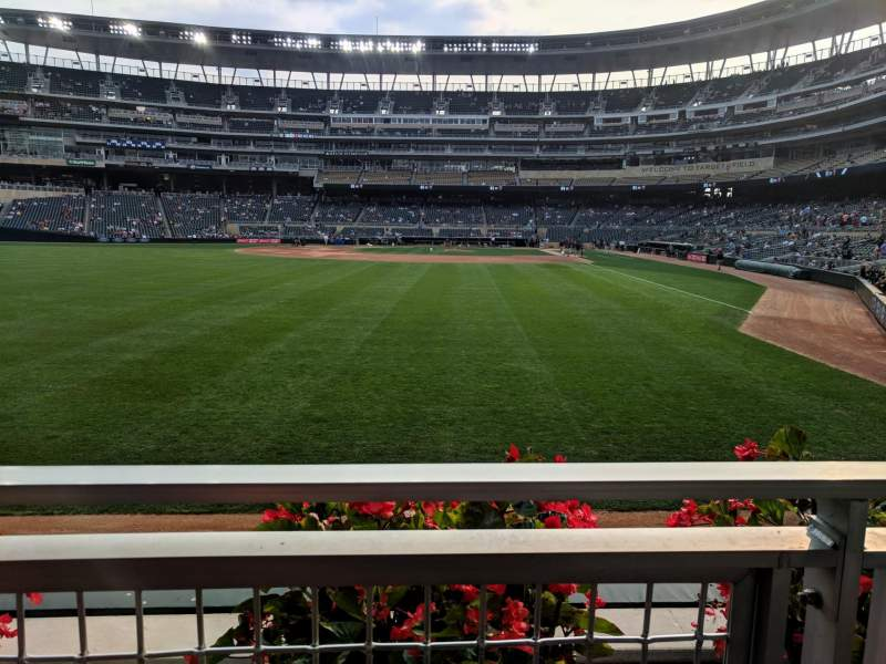 Target Field, section: 128, row: 1, seat: 26