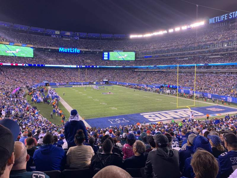 Seating view for MetLife Stadium Section 104 Row 38 Seat 16