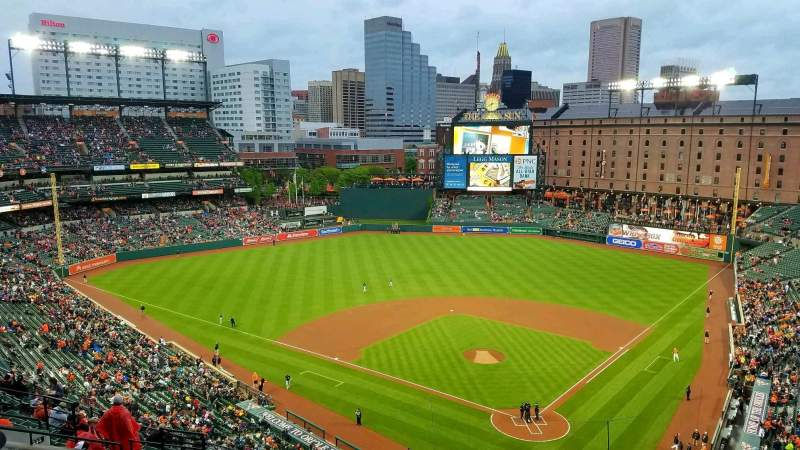 Seating view for Oriole Park at Camden Yards Section 342 Row 17 Seat 3