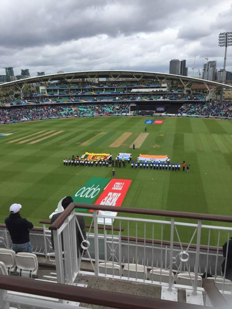 Seating view for Kia Oval Section Pavilion Top Row F Seat 12