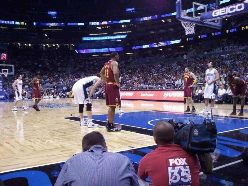 Amway Center Section Floor S Row 1 Seat 28 Orlando