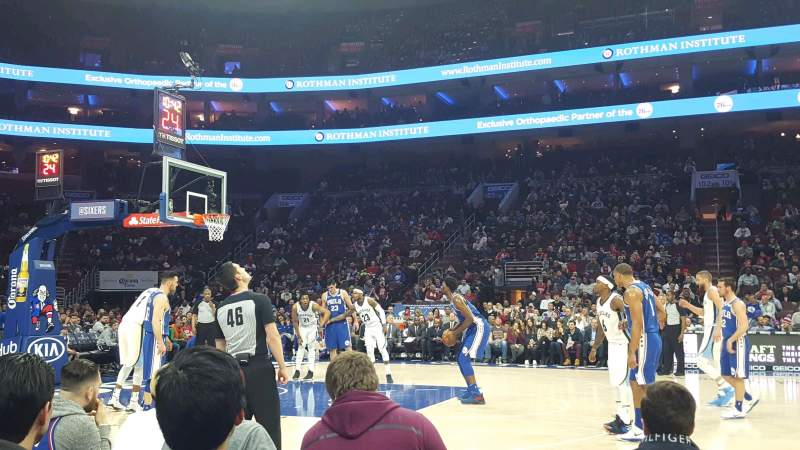 Seating view for Wells Fargo Center Section 113 Row CC Seat 1