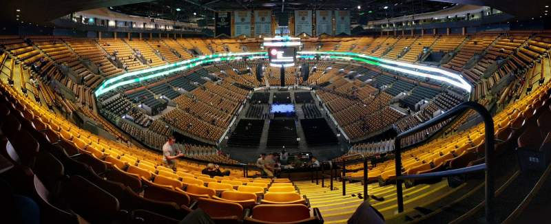 Seating view for TD Garden Section BAL 324 Row 15 Seat 1