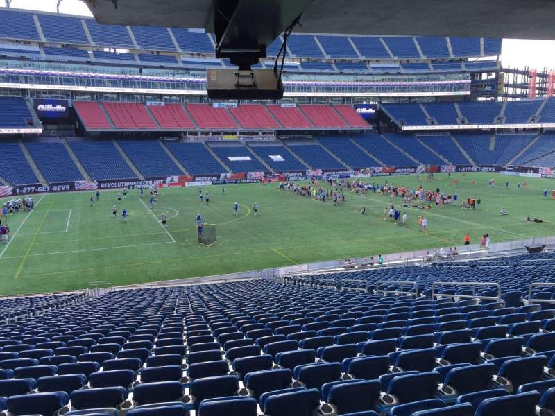 Gillette Stadium, section: 113, row: 38, seat: 12