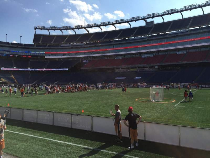 Seating view for Gillette Stadium Section 106 Row 1 Seat 12