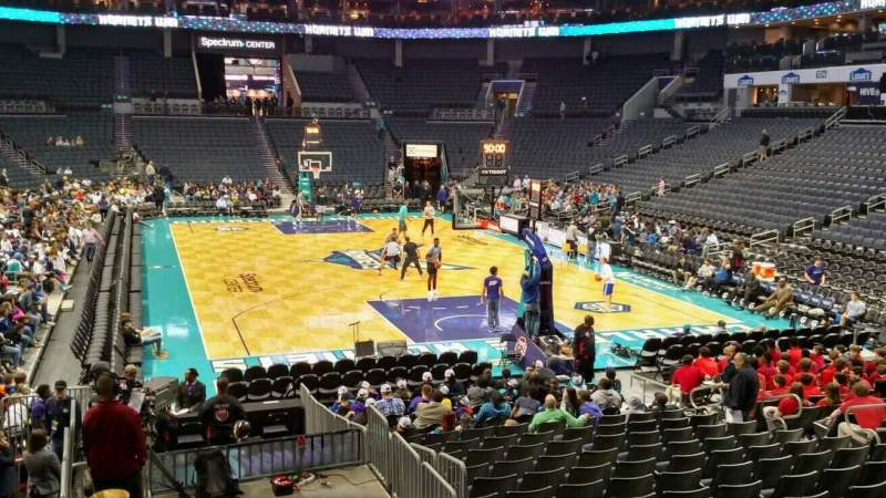 Seating view for Spectrum Center Section 110 Row P Seat 15