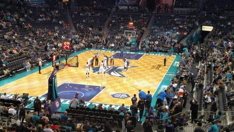 Seating view for Spectrum Center Section L01 Row B Seat 5