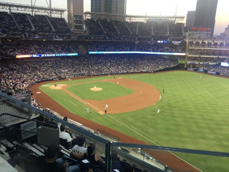 Seating view for PETCO Park Section 321 Row 7 Seat 8