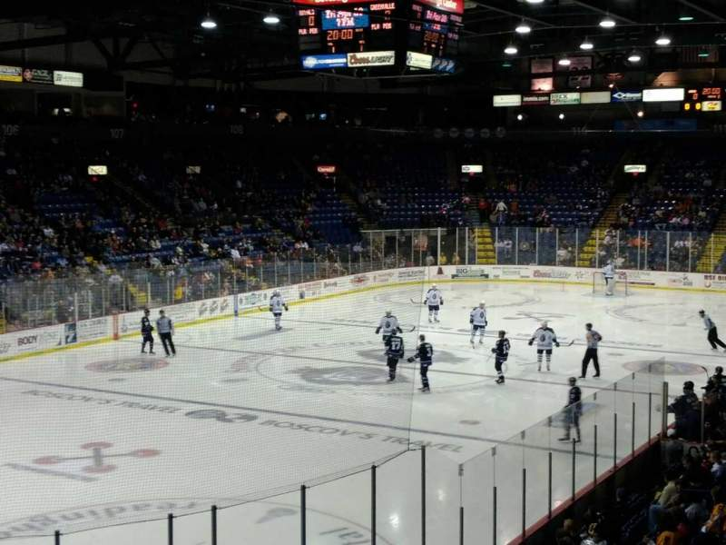 Seating view for Santander Arena Section 121 Row R Seat 5