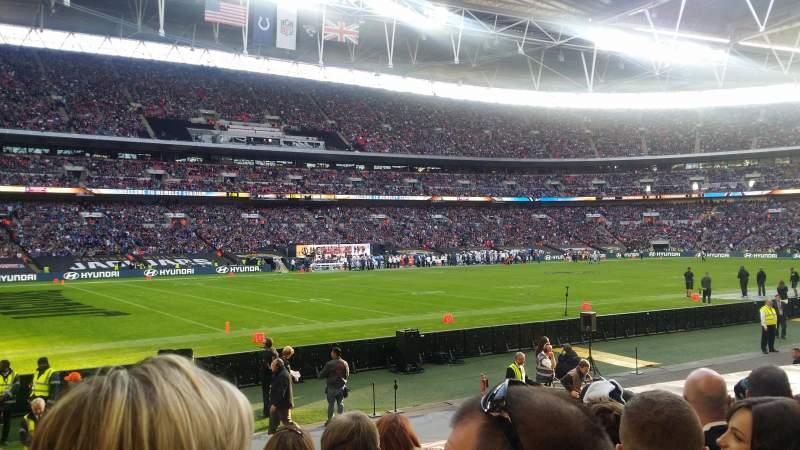 Wembley Stadium, section: 105, row: 15, seat: 73