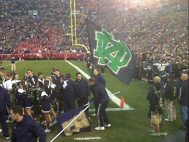 Seating view for Notre Dame Stadium Section 24 Row 2
