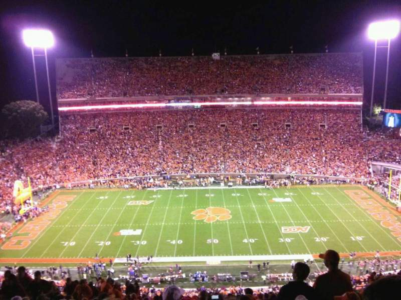 Seating view for Memorial Stadium, Clemson Section TDO Row T Seat 19