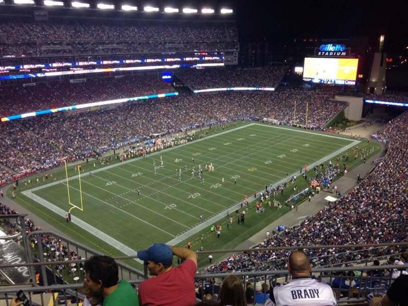 Gillette Stadium, section: 316, row: 4, seat: 1