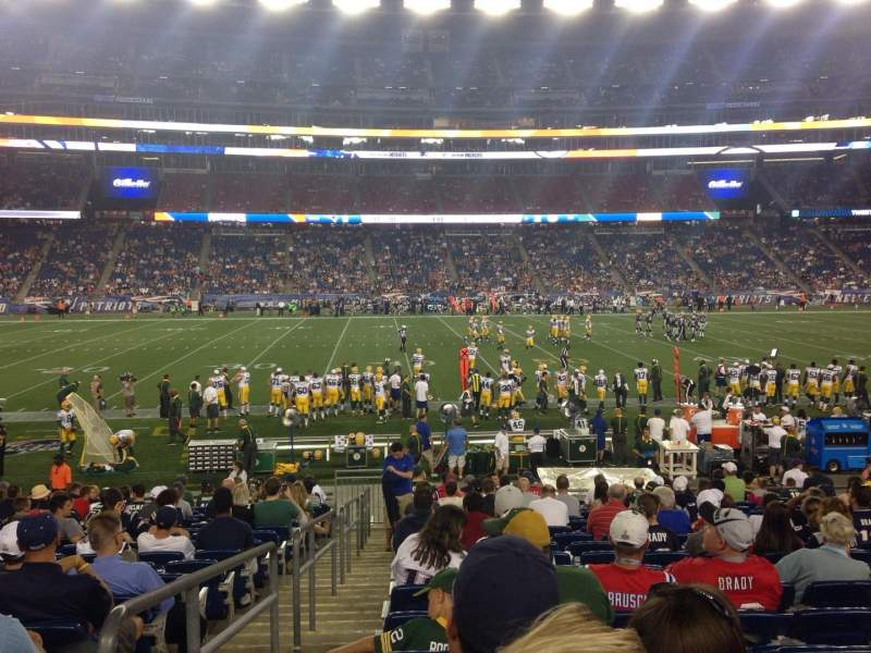 Seating view for Gillette Stadium Section 132 Row 18 Seat 21