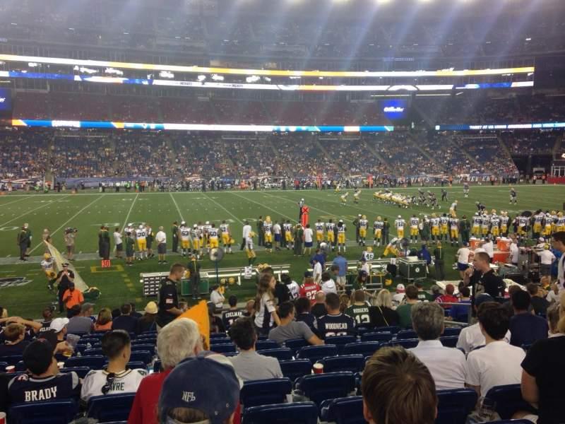 Gillette Stadium, section: 133, row: 15, seat: 8