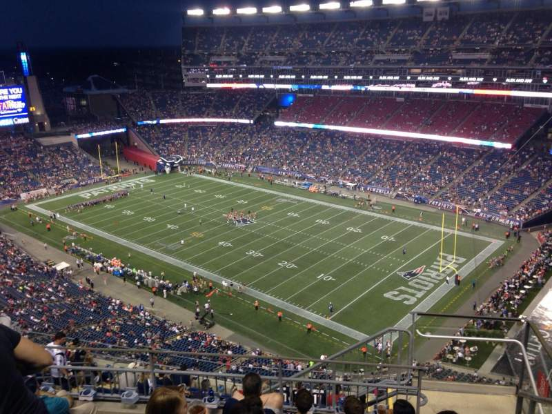 Gillette Stadium, section: 325, row: 13, seat: 2