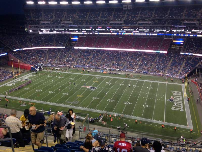 Gillette Stadium, section: 328, row: 16, seat: 20