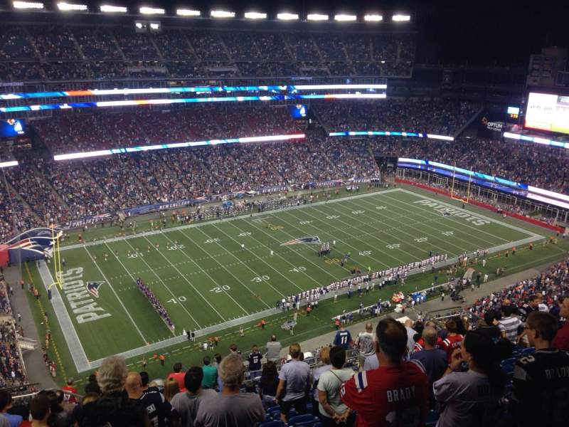 Gillette Stadium, section: 336, row: 21, seat: 20