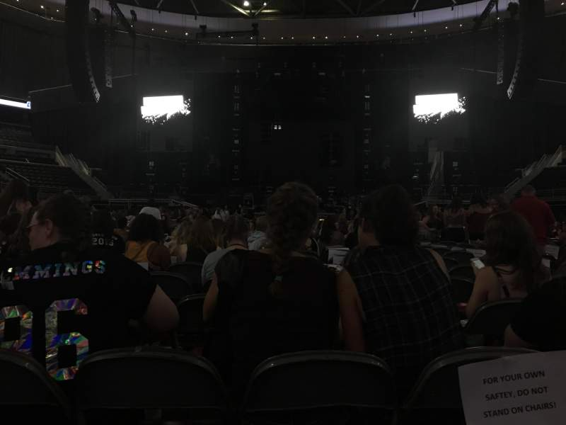The Palace of Auburn Hills, section: B, row: 20, seat: 8
