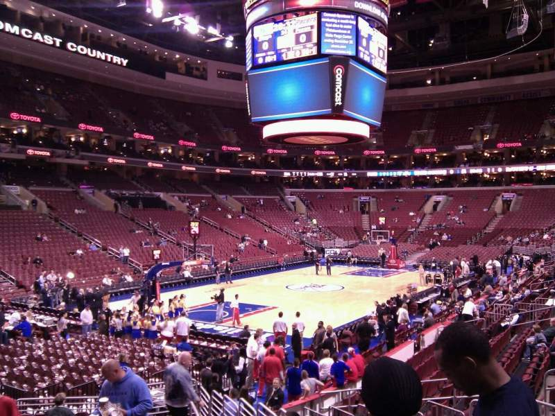 Seating view for Wells Fargo Center Section 121 Row 15 Seat 16
