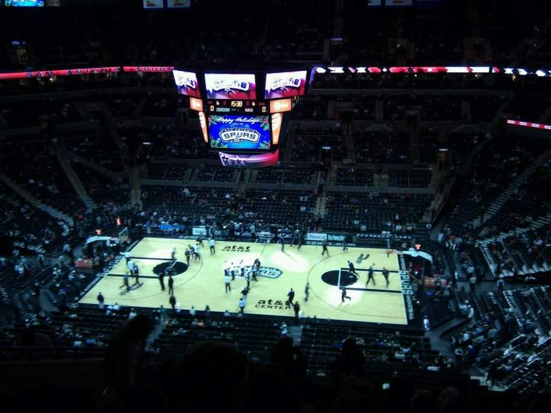 Seating view for AT&T Center Section 223 Row 11 Seat 13