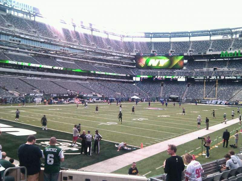 Seating view for MetLife Stadium Section 121 Row 10 Seat 5