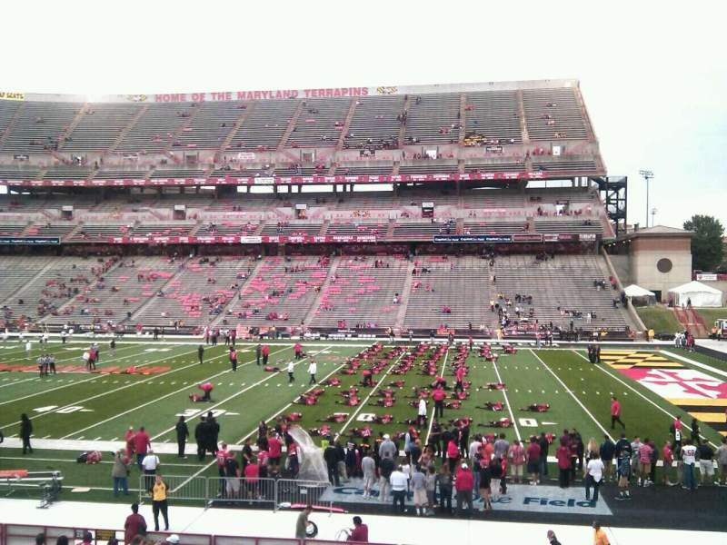 Seating view for Maryland Stadium Section 27 Row bb Seat 22