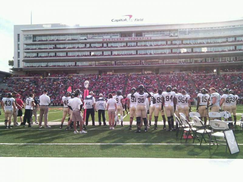 Maryland Stadium, section: 6, row: a, seat: 17
