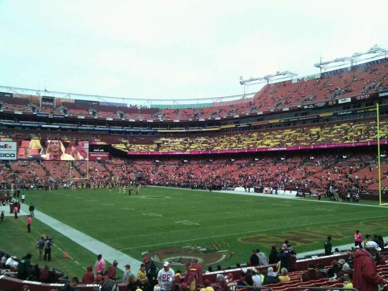 Fedex Field Section 135 Row 19 Seat 10 Washington Redskins Vs