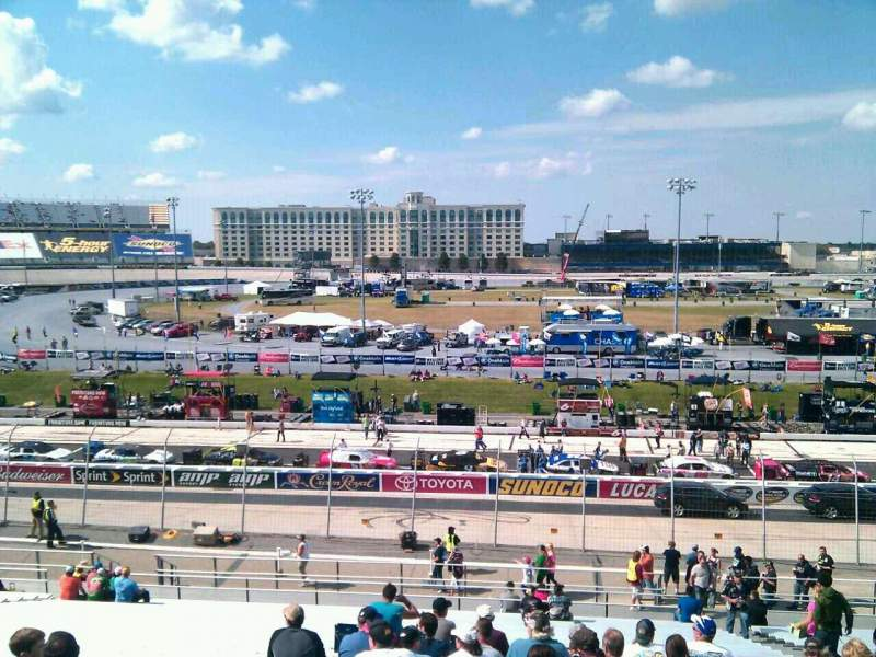 Seating view for Dover International Speedway Section 104 Row 30 Seat 9