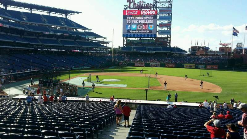Seating view for Citizens Bank Park Section 116 Row 33 Seat 18