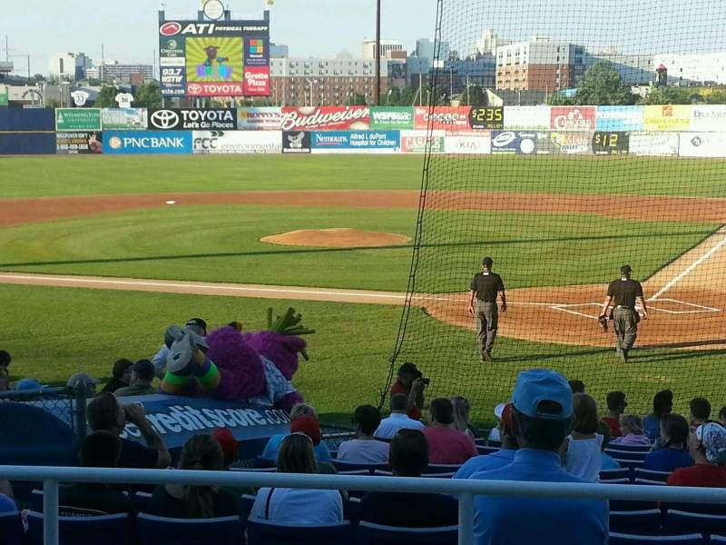Seating view for Frawley Stadium Section j Row 5 Seat 5