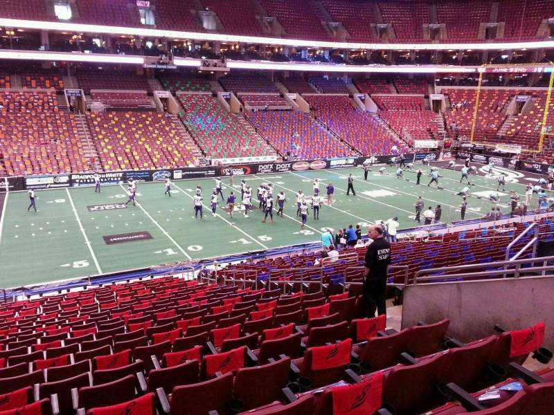 Wells Fargo Center, section: Club Box 23, row: 1, seat: 12