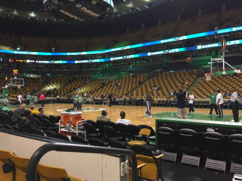 Seating view for TD Garden Section Loge 21 Row 3 Seat 12